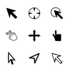 Cursor icons set vector