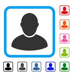 Customer framed icon vector
