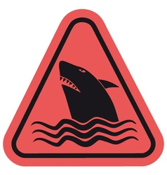 Danger shark zone vector