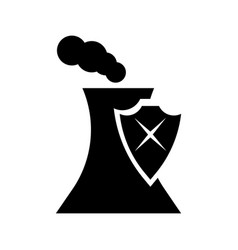 dangerous factory icon vector image