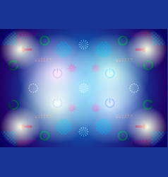 digital signs on abstract background vector image