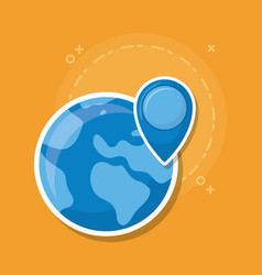 earth planet design vector image