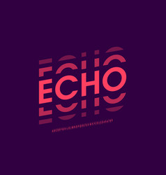 Echo style modern font alphabet letters and vector