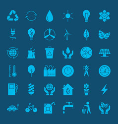 Ecology environment solid web icons vector