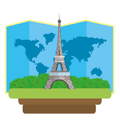 eiffel tower icon vector image