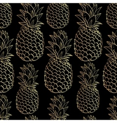 Exotic seamless pattern with silhouettes tropical vector