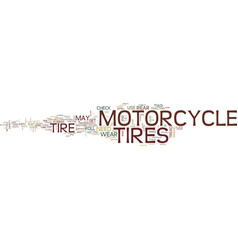 Flat motorcycle tires roll hard text background vector
