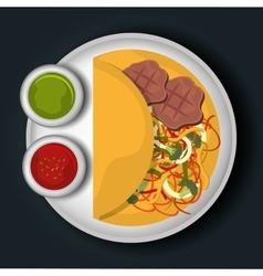Food and gastronomy graphic design vector image