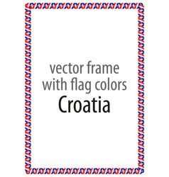 Frame and border of ribbon with the colors croatia vector