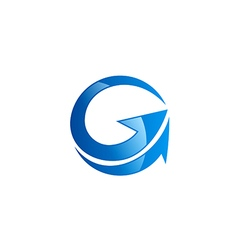 G letter arrow abstract logo vector
