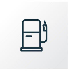 gas station icon line symbol premium quality vector image