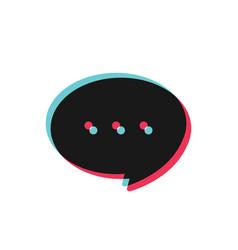 glitch chat bubble speech icon vector image