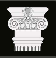 greek capitals of columns vector image vector image