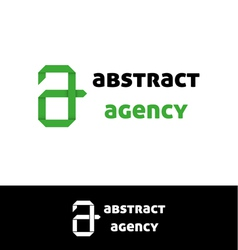 Green a letter logo vector image