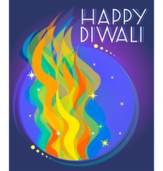 Happy diwali vector