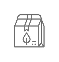Health food in lunch box eco takeaway line icon vector