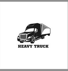 heavy truck logo vector image