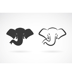 Image of an elephant head design vector
