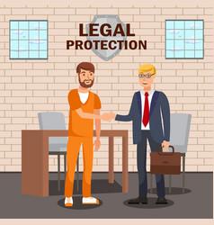 Legal advisor lawyer service flat banner template vector