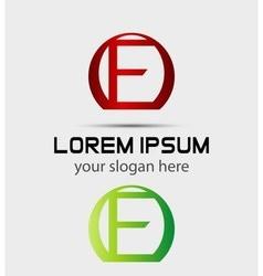Letter F logo Creative concept icon vector image