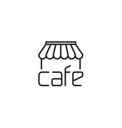 Line cafe thin icon on white background vector