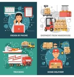 Logistics Delivery Design Concept vector