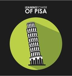 ltower of pisa vector image