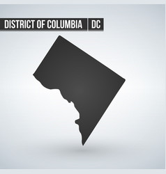 Map us district columbia vector