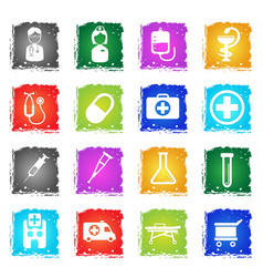 Medical simply icons vector