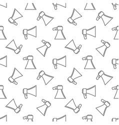 Megaphone or loudspeaker seamless pattern vector