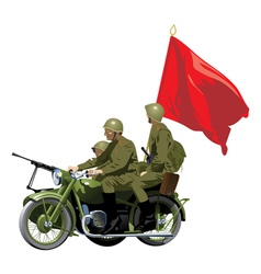 Military motorcycles vector
