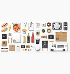 mockup for pizzeria cafe restaurant or fast food vector image