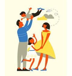 modern family life vector image