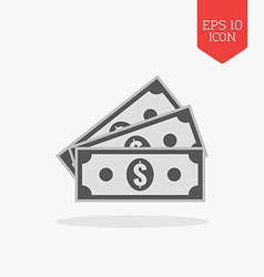 Money icon Flat design gray color symbol Modern UI vector image