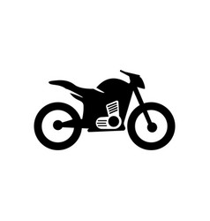 motorcycle icon design template vector image