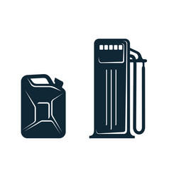 Oil fueling station canister flat icon vector