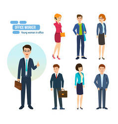 People with briefcases and bags in hands vector