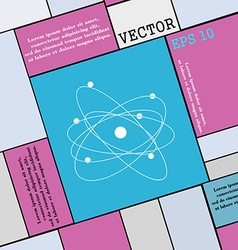 physics atom big bang icon sign Modern flat style vector image