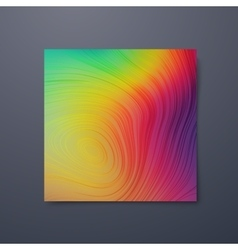 Poster design template with swirled iridescent vector
