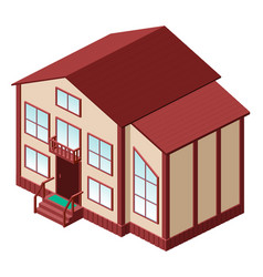 Private country house for a large family 3d vector