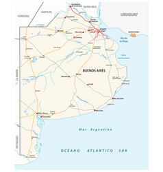 Road map argentine province buenos aires vector