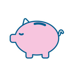 Save money inside pig in the home vector