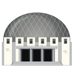 Science building with round roof vector