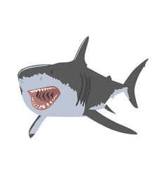 shark open mouth clipping art good for cutting vector image