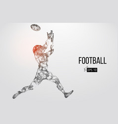 Silhouette of a football player vector