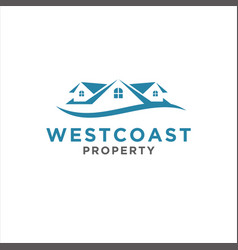 simple home logo design inspiration vector image