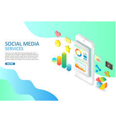 social media services web banner design vector image