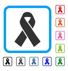 Solidarity ribbon framed icon vector