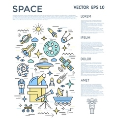 Space Vertical Infographic vector image