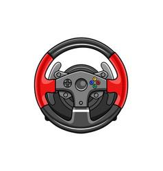 Steering wheel gamepad icon vector